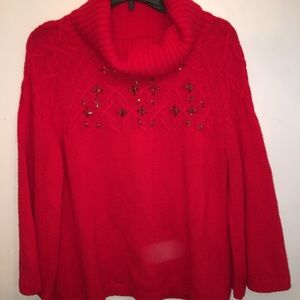 New York & Co Red Holiday Sweater